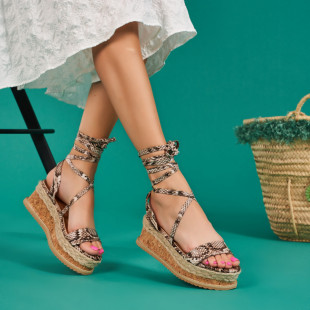 Sandale cu platforma dama SB1673B
