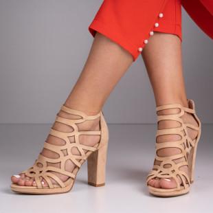 Sandale cu toc dama SB1389B