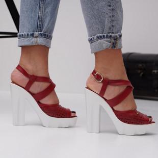 Sandale cu toc dama SB1479B