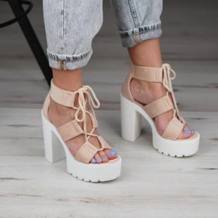 Sandale cu toc dama SB1118B