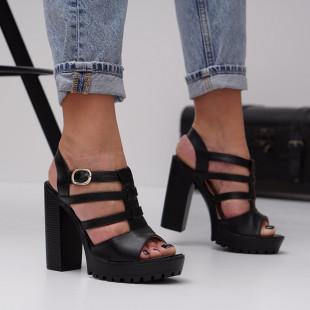 Sandale cu toc dama SB1480B