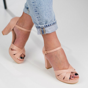 Sandale cu toc dama SB1277B
