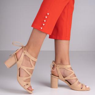 Sandale cu toc dama SB1386B