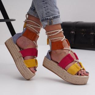 Sandale cu platforma dama SB1507B