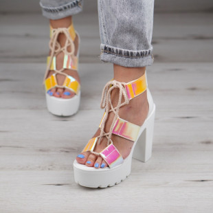 Sandale cu toc dama SB1119B