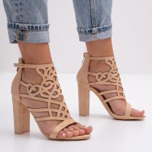 Sandale cu toc dama SB1396B