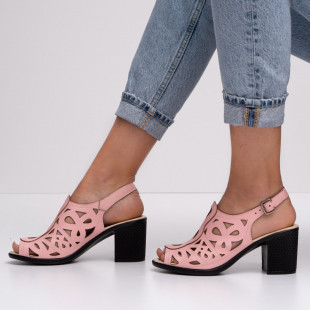 Sandale cu toc dama SB1400B