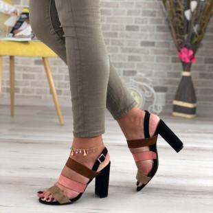 Sandale cu toc SB410D