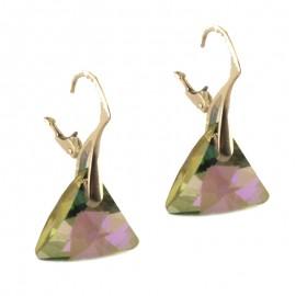 Poze Cercei din argint cu cristale Swarovski Paradise Shine triangle