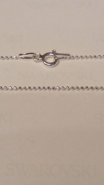 Poze Lantisor din argint cu bilute 1 mm, 50 cm lungime