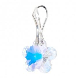 Poze Medalion din argint cu cristale Swarovski Crystal Aurore Boreale flower