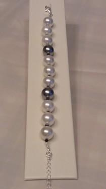 Poze Bratara cu perle de Mallorca, cristale Swarovski si argint