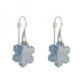 Poze Cercei din argint cu cristale Swarovski Crystal blue shade 20