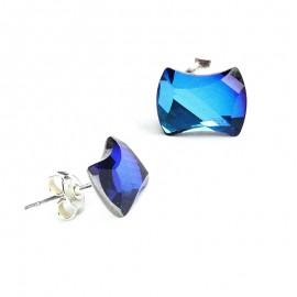 Poze Cercei din argint cu Swarovski Elements Bermuda blue
