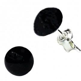 Poze Cercei din argint cu Swarovski Elements Black Pearl