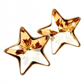 Poze Cercei din argint si Swarovski Elements Golden star (steluta)