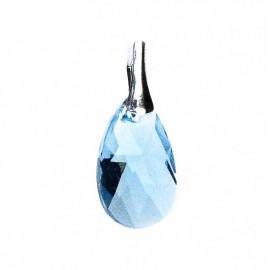 Poze Medalion din argint cu cristale Swarovski Aquamarine pear