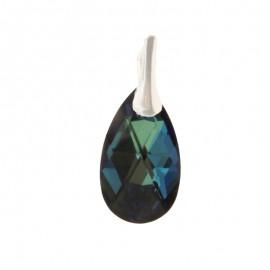 Medalion din argint cu cristale Swarovski Bermuda Blue pear
