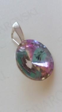 Poze Medalion din argint cu cristale Swarovski Crystal Vitrail Light rivoli 14