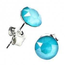 Poze Cercei din argint cu Swarovski Elements Crystal Summer Blue Unfoiled