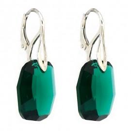 Poze Cercei  din argint cu Swarovski Elements Emerald
