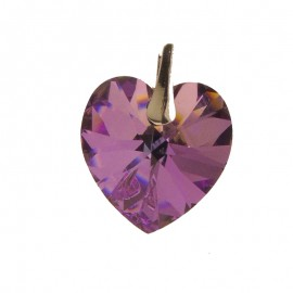 Medalion din argint cu cristale Swarovski Vitrail Light heart