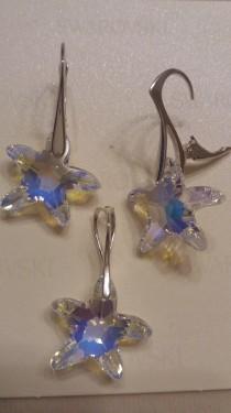 Poze Set cercei si medalion din argint cu cristale Swarovski Crystal Aurore Boreale