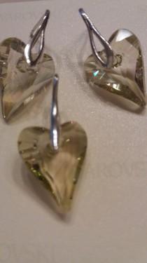 Poze Set cercei si medalion din argint cu cristale Swarovski Luminous Green