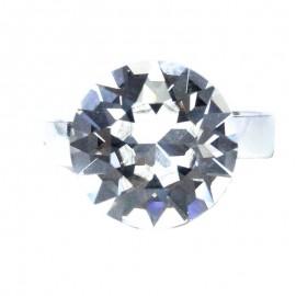 Poze Inel reglabil din argint cu cristal Swarovski Crystal Foiled