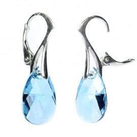 Poze Cercei din argint cu cristale Swarovski Aquamarine pear