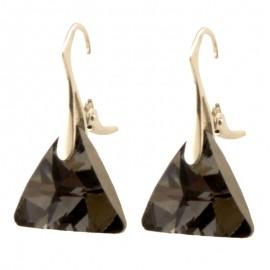 Poze Cercei din argint cu cristale Swarovski Silver Night triangle