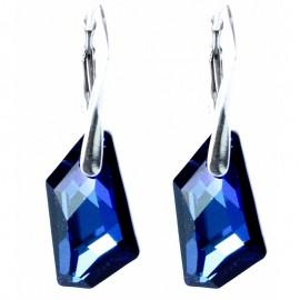 Poze Cercei din argint cu Swarovski Elements Bermuda Blue 19
