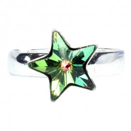 Poze Inel reglabil din argint cu Swarovski Elements Vitral Medium Foiled star