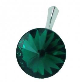 Poze Medalion din argint cu cristale Swarovski Emerald Foiled rivoli 14