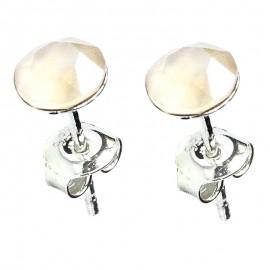 Poze Cercei din argint cu Swarovski Elements Ivory Cream Shiny Unfoiled