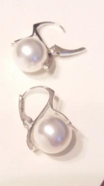 Poze Cercei din argint cu Swarovski Elements - Perle Mallorca crystal white 10