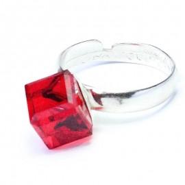 Poze Inel reglabil din argint cu cristal Swarovski Rhinestone Cube siam