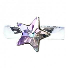 Poze Inel reglabil din argint cu cristal Swarovski Vitrail Light star