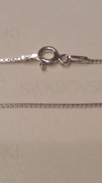 Poze Lantisor argint box twisted 0,9 mm, 45 cm lungime