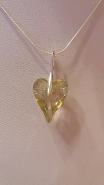 Poze Medalion din argint cu cristale Swarovski Luminous Green
