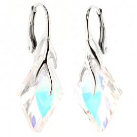 Poze Cercei din argint cu cristale Swarovski Crystal Aurore Boreale romb
