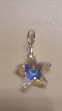 Poze Medalion din argint cu cristale Swarovski Crystal Aurore Boreale