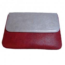 Poze Poşeta din piele naturală Tonia Silver & Red Box
