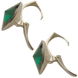 Poze Cercei din argint cu cristale Swarovski Emerald Foiled rivoli 14