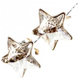 Poze Cercei din argint si Swarovski Elements Crystal star (steluta)