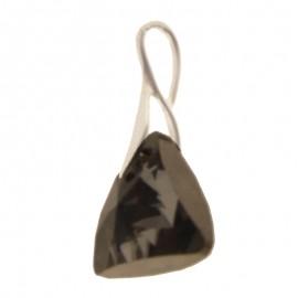 Poze Medalion din argint cu cristale Swarovski Silver Night triangle
