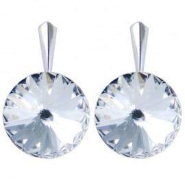 Poze Cercei din argint cu cristale Swarovski Crystal Foiled rivoli 14