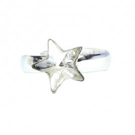 Poze Inel reglabil din argint cu cristale Swarovski Crystal star