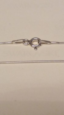 Poze Lantisor din argint snake 0,7 mm, 55 cm lungime
