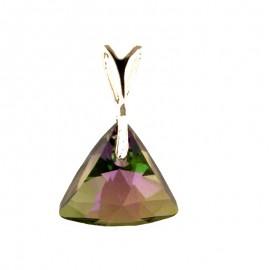 Medalion din argint cu cristale Swarovski Paradise Shine triangle
